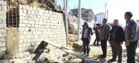 Chief Minister Zeliang inspects construction works