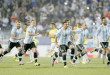 Vina del Mar  :Argentina's players celebrate after Carlos Tevez scored the winning penalty kick  during a Copa America quarterfinal soccer match against Colombia  at the Sausalito Stadium in Vina del Mar, Chile, Friday, June 26, 2015. AP/PTI(AP6_27_2015_000022B)