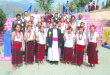 Rev. Dr. James Thoppil, Bishop of Kohima, along with members of Kiphire Catholic Women Society on the occasion of its silver jubilee celebration.