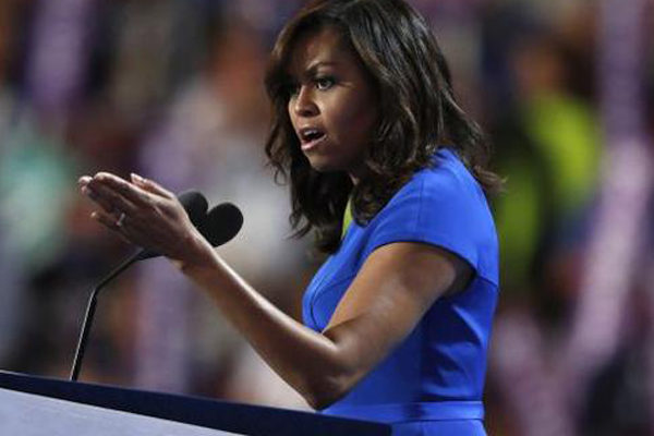 Michelle Obama draws sharp portrait of Trump, without naming him