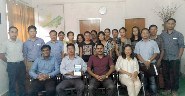 Forest officials, Dimapur Division, at the launching of digital campaign to promote eco-tourism.