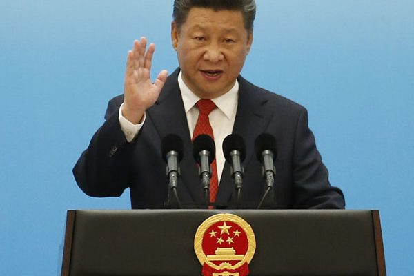 """(FILES) This file photo taken on September 3, 2016 shows China's President Xi Jinping speaking during the opening ceremony of the B20 Summit prior to the G20 Summit in Hangzhou. China's ruling Communist Party declared its General Secretary Xi Jinping the """"core"""" of its leadership on October 27, the official Xinhua news agency reported, elevating his already powerful status. / AFP PHOTO / POOL AND AFP PHOTO / ALY SONG"""