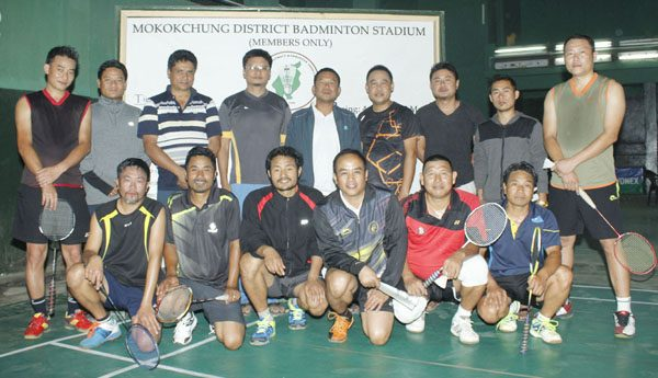 MDBA officials and members after the press conference at Indoor Stadium, Imkongmeren Sports Complex, Mokokchung on Saturday.