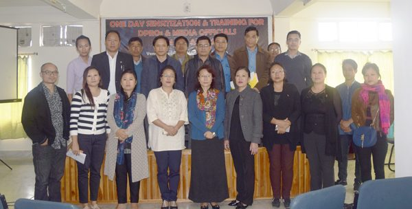 Members of the media and the NSACS at the seminar on HIV & AIDS in Kohima town on October 28.