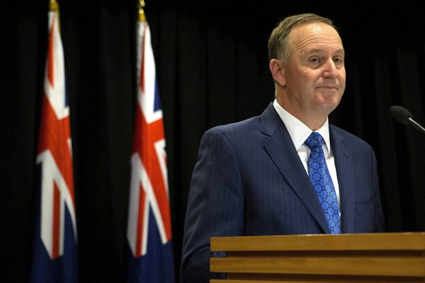 Wellington:New Zealand Prime Minister John Key announces his decision to resign and stand-down from politics at a press conference in Wellington, New Zealand, Monday, Dec. 5, 2016. Key stunned the nation on Monday when he announced he was resigning after eight years as leader.AP/PTI(AP12_5_2016_000020B)
