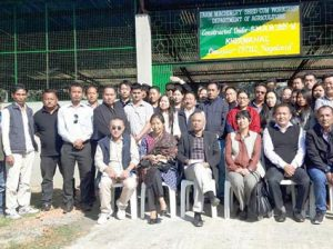 Officers and staff of Agriculture department pose group photo after the inauguration of Farm machinery shed cum workshop in Dimapur on January 6.