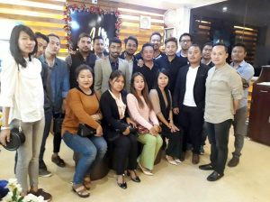 Local entrepreneurs with NE8x representatives posing for the camera after an eventful interaction in Dimapur on January 6.