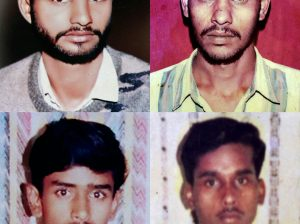 Ghaziabad: **COMBO** File picture of the Bhojpur fake encounter case victims, clockwise from top left, Jasbir, Ashok, Pravesh and Jalaluddin. A Central Bureau of Investigation (CBI) court on Wednesday sentenced four Uttar Pradesh cops including a Station House Officer to life imprisonment in the case. PTI Photo  (PTI2_22_2017_000240B)
