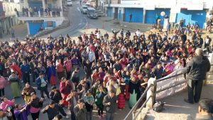 Members of various churches led by their pastors gathered at the Police Point in Mokokchung Town for a prayer service on Thursday, February 16.