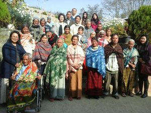 Kohima DLSA officials posing for a lens with the elderly persons at Kohima Old Age Home.