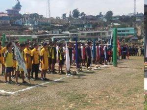 Open volley ball tournament at Pughoboto