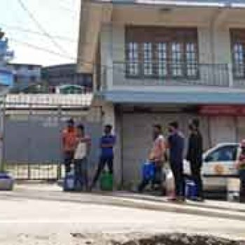 KMC distributes water to residents